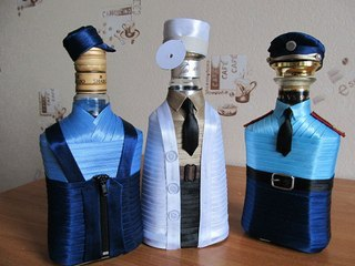 Декор бутылка для мужчины своими руками