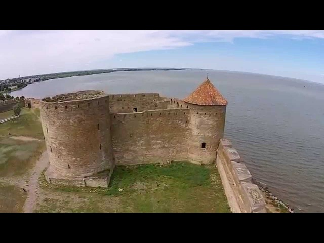 Akkerman fortress in Belgorod Dnestrovskiy. Sky video HD.