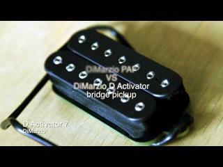 DiMarzio PAF VS DiMarzio D Activator bridge pickup