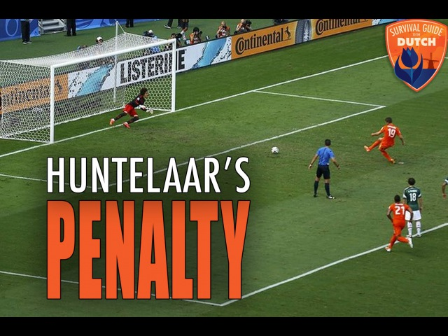 The Netherlands goes crazy when Huntelaar scores 2-1 against Mexico