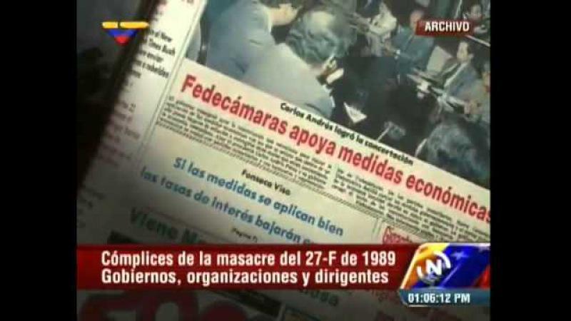 La masacre de 27F: Políticos de la Cuarta se quitaron la careta con miles de muertos en las calles