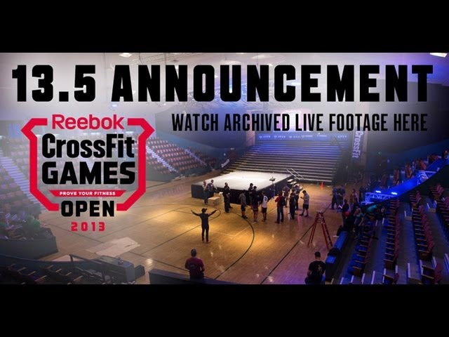 Open Workout 13.5 Archived Live Announcement Footage