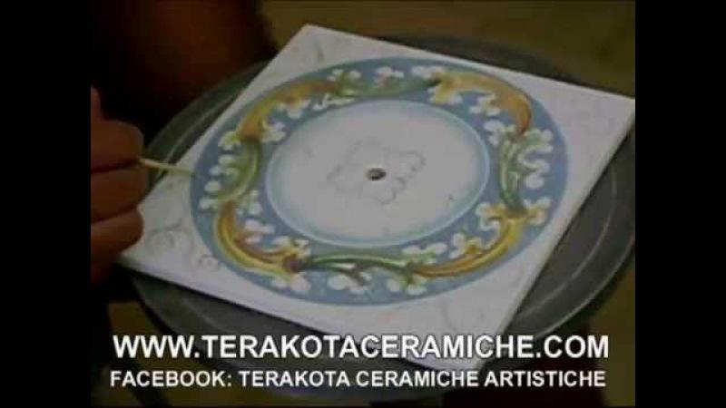 Terakota ceramiche LAVORAZIONE CERAMICA ARTIGIANALE CORSO PITTURA CERAMICA SICILIANA OROLOGIO