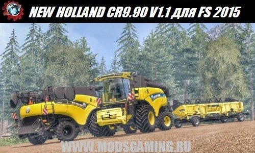 Farming Simulator 2015 download mod harvesters NEW HOLLAND CR9.90 YELLOW V1.1