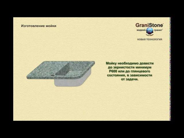 №13 Изготовление мойки. GraniStone -- жидкий гранит. Новая технология.
