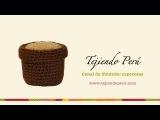 Cactus amigurumi (crochet) macetero tejido a crochet