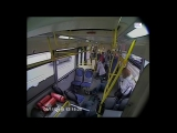 The bus driver in Moscow - crashed into a pillar fell asleep at the steering wheel [2015]  crash test on living people