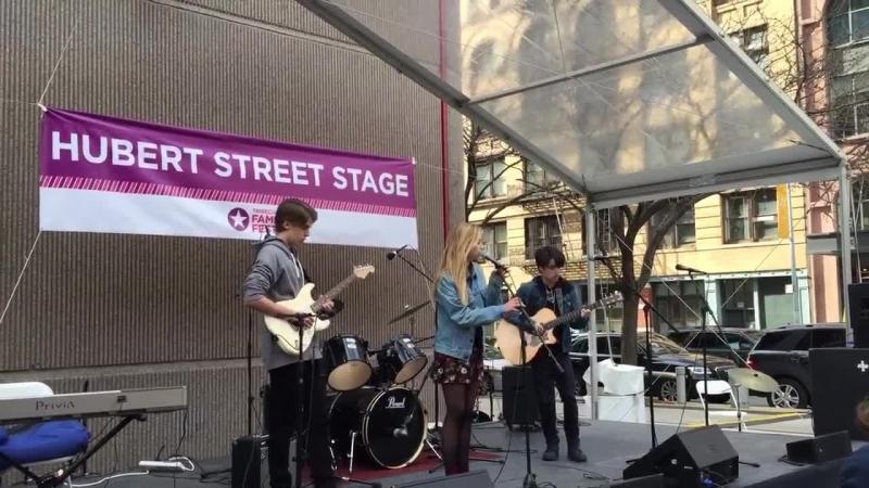 Stella Rose Gahan, Ray, Milo performing at Tribecca film festival Saturday