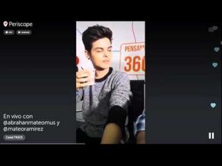 Abraham Mateo Respondiendo preguntas en Canal 13 / 8-OCT-2015