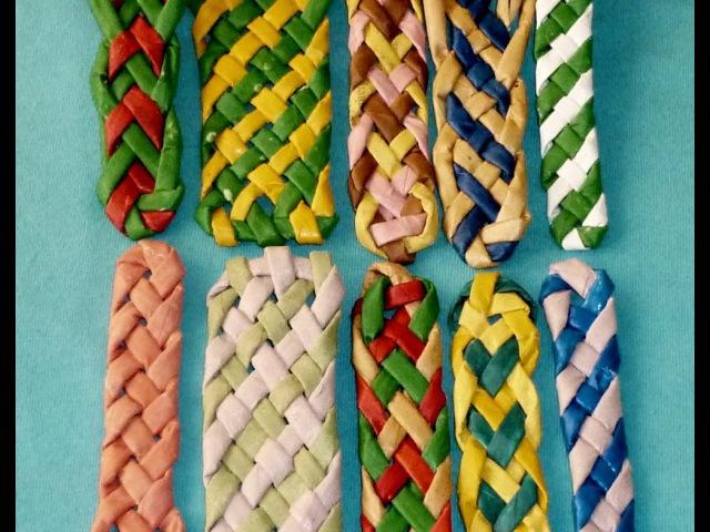Плетение полосок из бумаги - Часть 1 / Weave the strips of paper tubes - Part 1