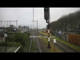 cabinerit A train driver's view Rotterdam CS - Hoek van Holland Haven, SGMM, 26-Jan-2015.
