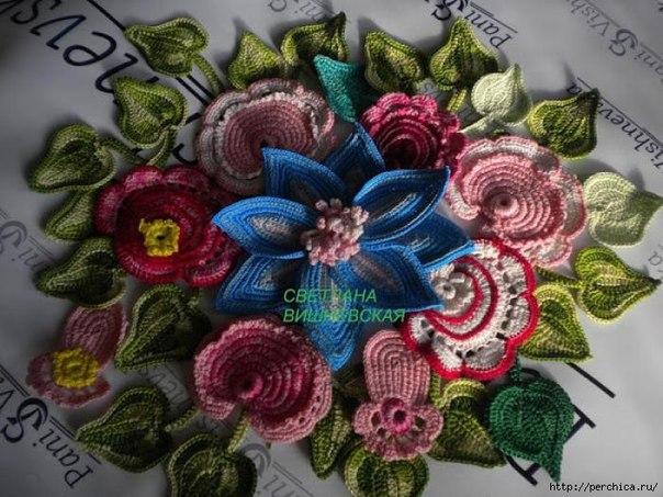 Delicadezas en crochet Gabriela: MOTIVOS encaje irlandés - ESQUEMAS
