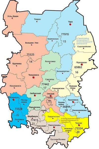контур карты любинского района омской области