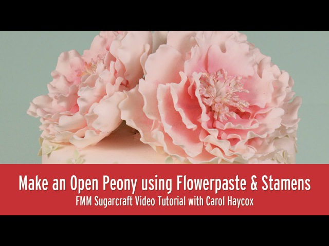 How to Make an Open Peony using Flowerpaste and Stamens