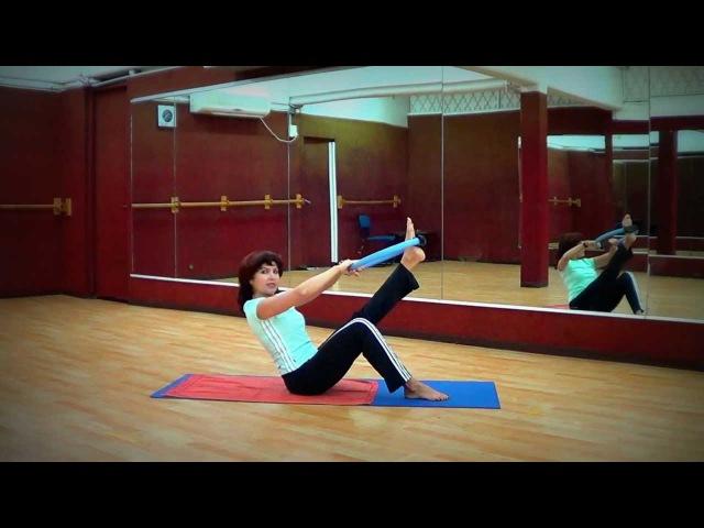 Пресс и бедра (с кольцом) Abs and hips (with Pilates Ring)