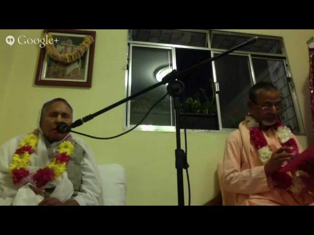 Шрипад БВ Мадхава Махарадж и Шримати Ума диди 29.04.2015 - Лекция