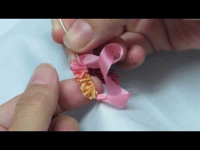 Ribbon Embroidery幸子玫瑰花yukiko rose stitch