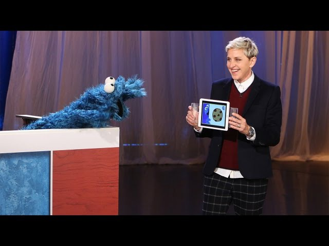 Ellen Plays Heads Up! Pictures with Cookie Monster