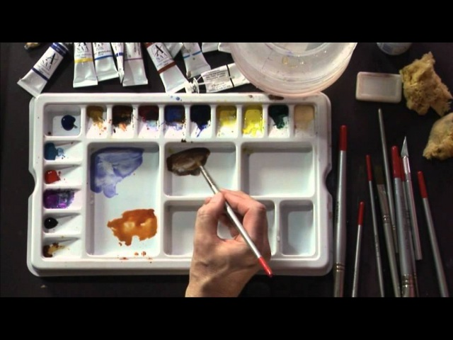 Рисуем березу акварельюDVD - Trees, Woodlands Forests in Watercolour with Geoff Kersey