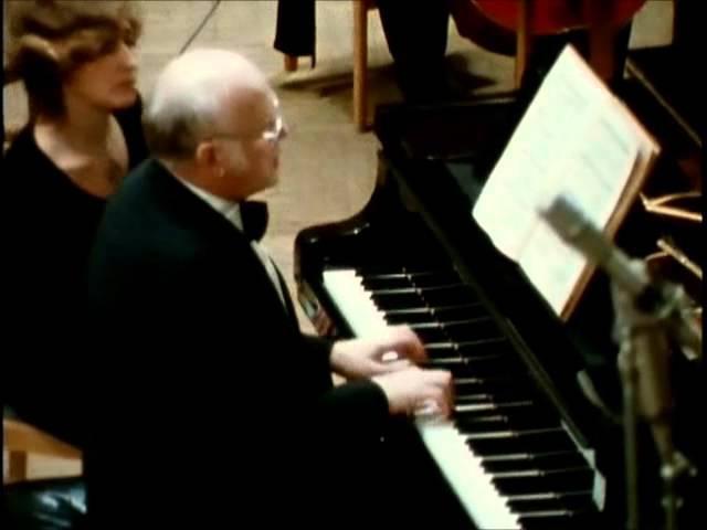 BACH SVIATOSLAV RICHTER Piano Concerto in D minor BWV 1052 (Allegro)