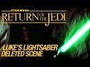 Star Wars VI Return of the Jedi Deleted Scene Luke's Lightsaber