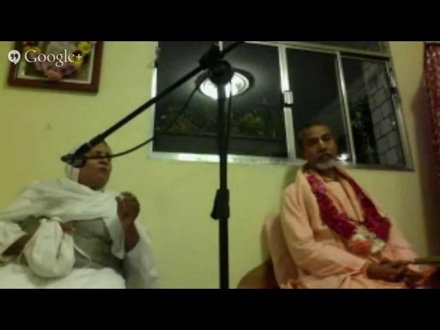 Шрипад БВ Мадхава Махарадж и Шримати Ума диди 30.04.2015 - Лекция