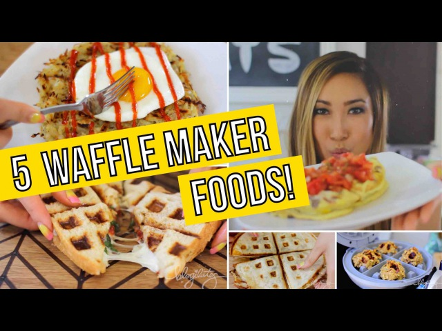 5 Unusual Ways to use a Waffle Maker Omelets Paninis Quesadillas Cookies Hashbrowns