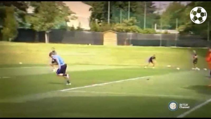 Adem Ljajic Ivan Perisic scored wonder goals in Inter Milan training