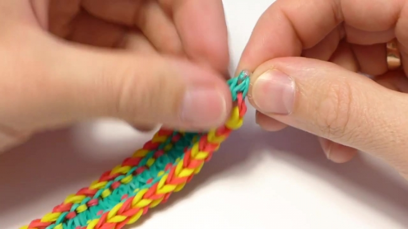 Как сделать браслеты из резинок сеточкой