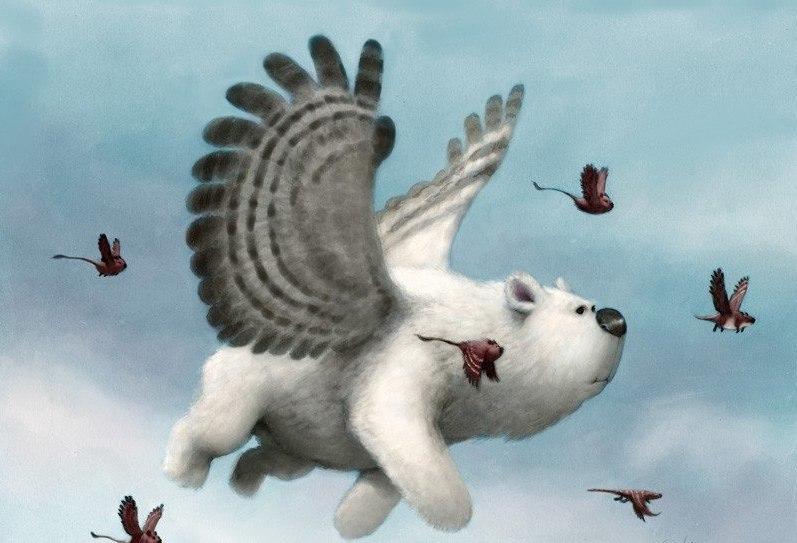 Смешные картинки с крыльями, днем рождения для