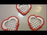 СЕРДЦЕ Аппликация Вязание крючком HEART Crochet Applique