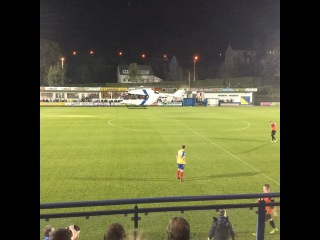 A helicopter stopped a match in Belgium after it landed on the pitch Video