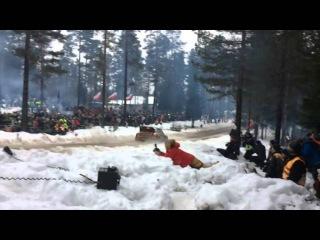 Colins Crest record(2014) - Sebastien Ogier 41 meter, Rally Sweden 2014