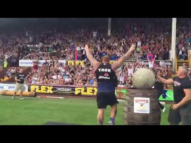 Хафтор Бьорнссон - Победные камни Атласа на Europe's Strongest Man 2015 / Thor Bjornsson pops up Stones
