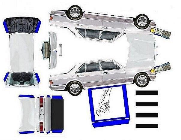 Машина из бумаги лада