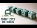 (vk.comLakomkaVK) How to make fondant letter baby blocks How To Cake Tutorial