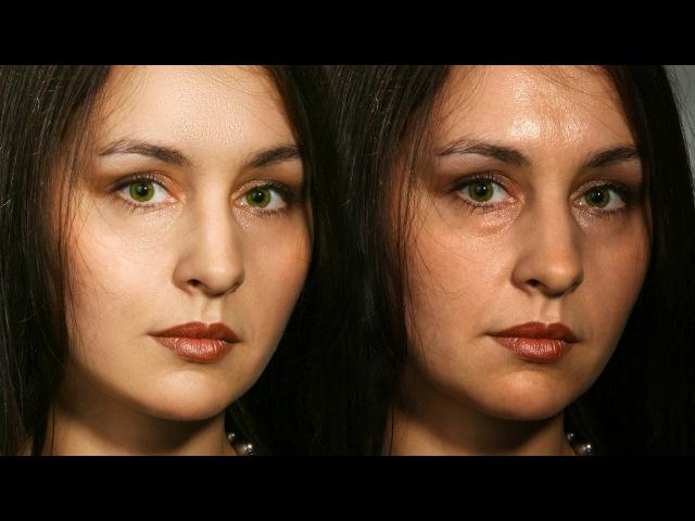 Частотное разложение кратко, понятно и весело. Ретушь портрета. Идеально красивая кожа.