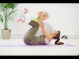 Убрать живот после родов видео. Силовая тренировка с ребенком.