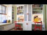Расположение мебели в детской для двоих детей