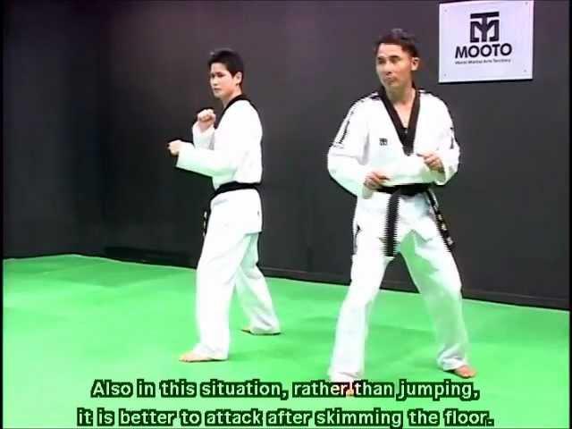 Taekwondo: Combat tutorial vol.2 part.1/2 step feint motion