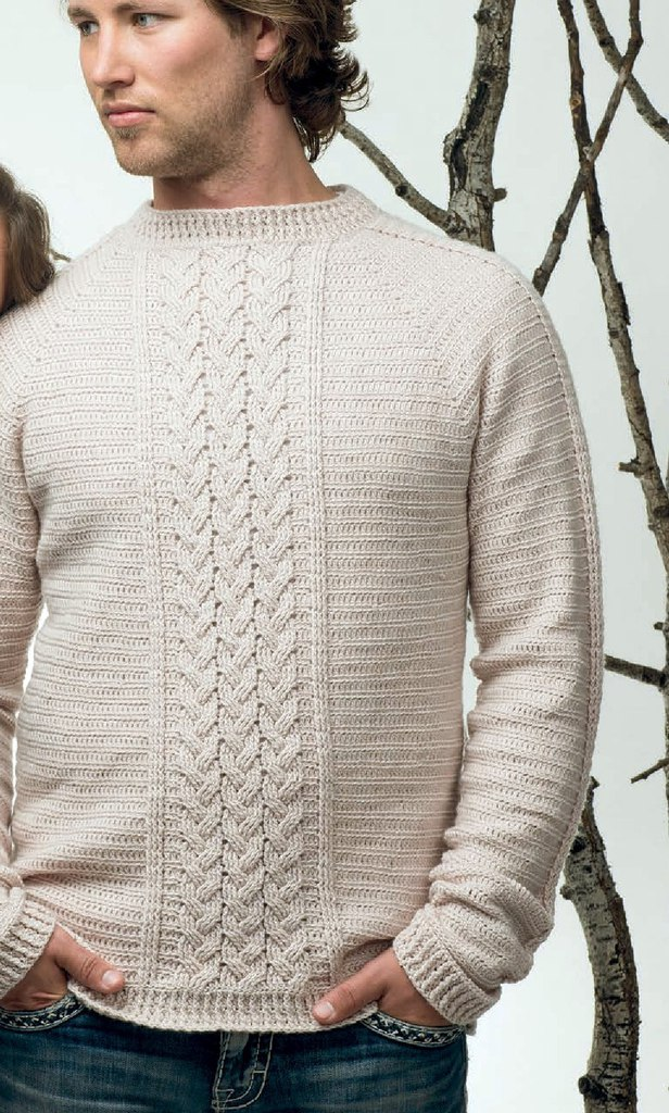 Вязание крючком свитеров для мужчин