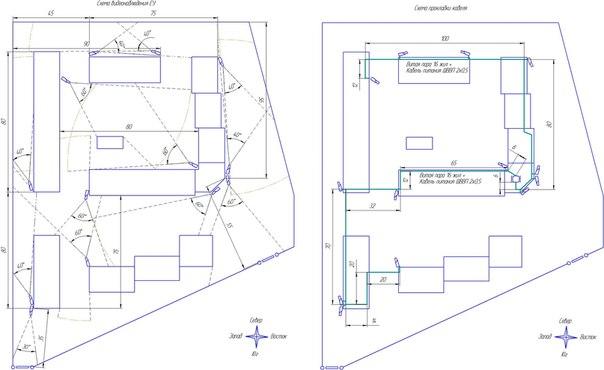 План-схема монтажа