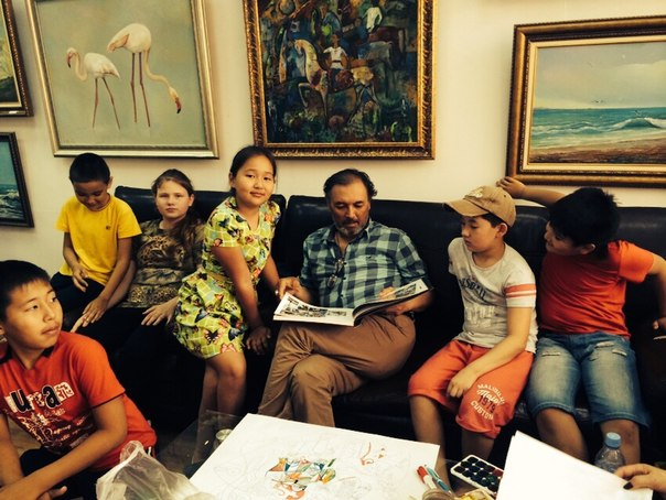 Наши дети посетили арт-галерею в Актау