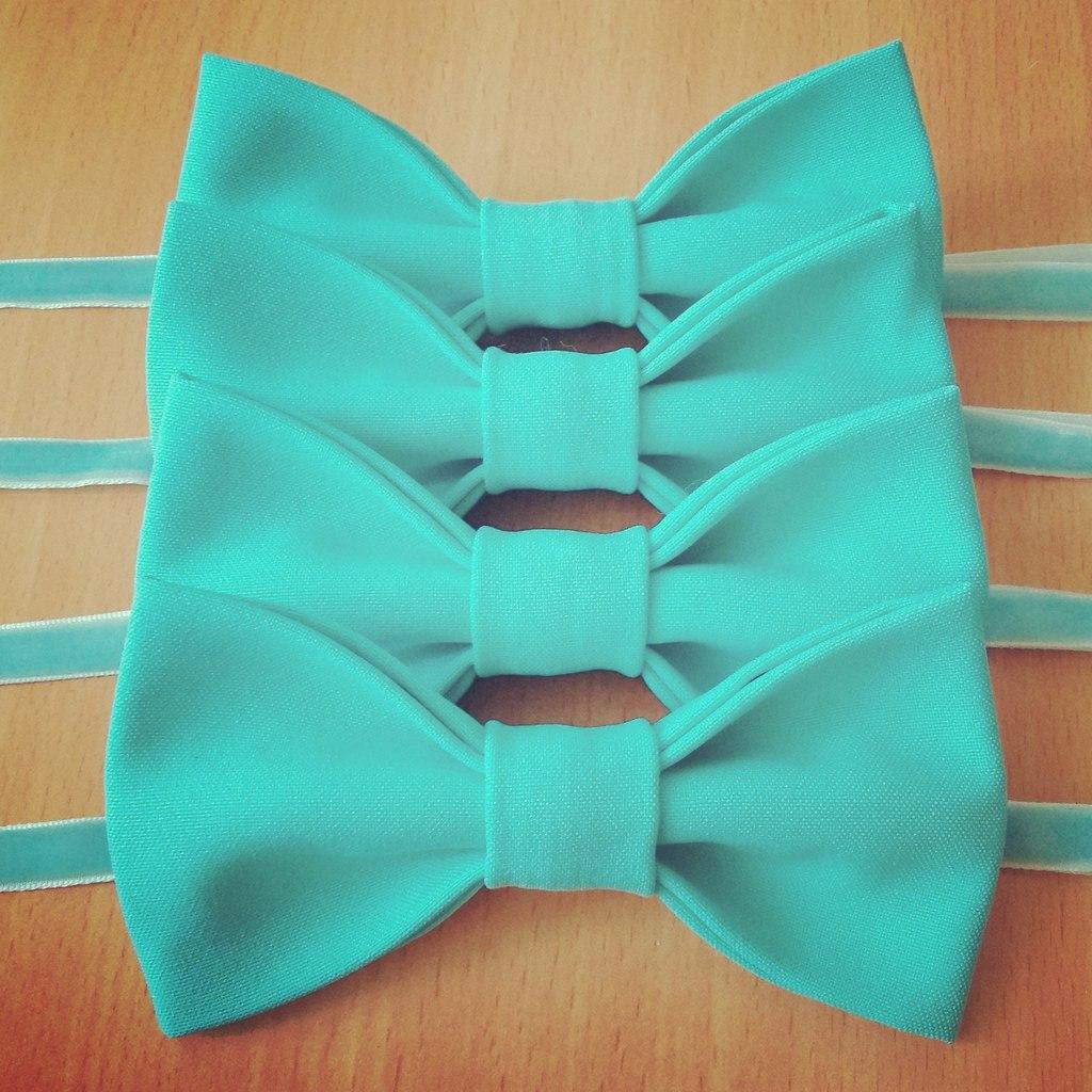 Бабочки галстуки из фетра своими руками