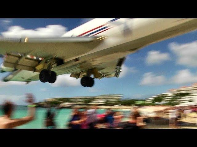 INSANE Landing Amerijet / Boeing 727 landing at Princess Juliana, St Maarten (Full HD1080p)
