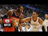 Russell Westbrook vs John Wall EPIC PG Duel Highlights Thunder vs Wizards (2015.01.02) - SICK!