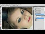 Уроки фотошопа. Как убрать синяки под глазами. Как изменить цвет глаз в фотошопе.