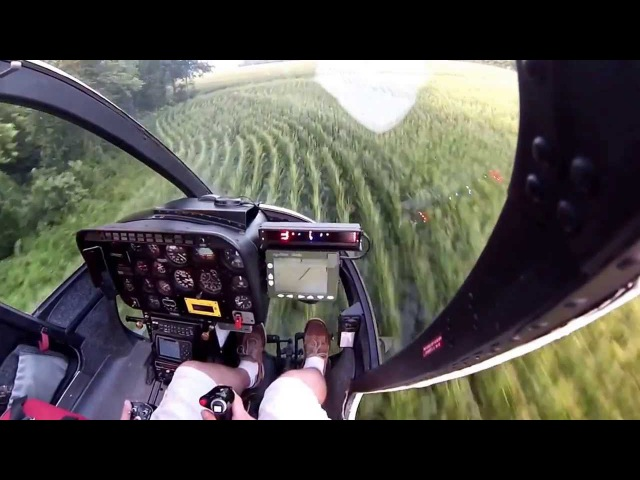 Helicopter crop dusting in Kentucky