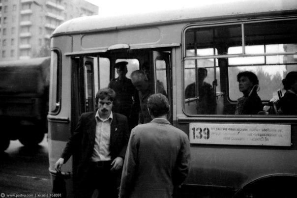 Пассажиры автобуса №139  