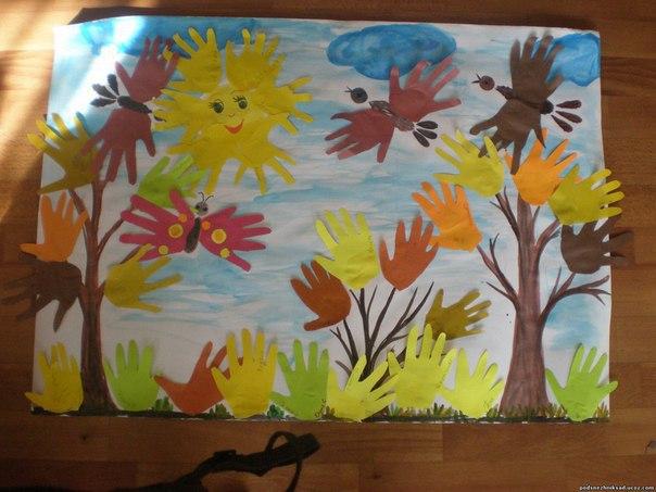 Аппликация из цветной бумаги на тему Осень: пошаговые 59